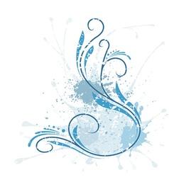 Floral splash vector