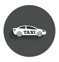 Taxi car sign icon sedan saloon symbol vector