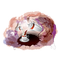Coffe milk and mug vector