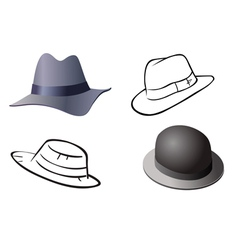 Hats old collection vector