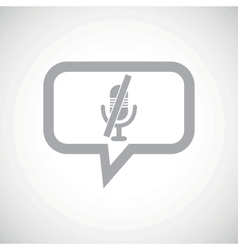 Muted microphone grey message icon vector