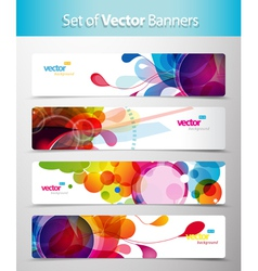 Set of abstract web banners vector