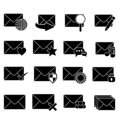 Message email icons set vector