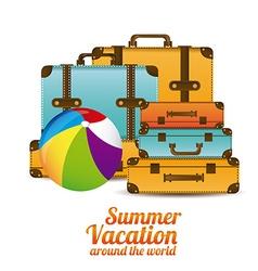 Summer vacation design vector
