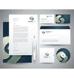 Business stationery template turquoisee vector