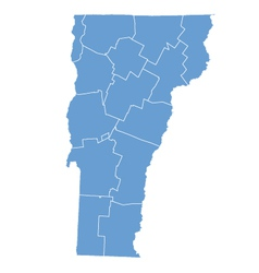 State map of vermont by counties vector