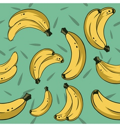 Bananas pattern vector