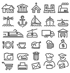 Set line icons vector