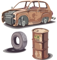 Old and rusty stuff vector