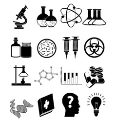 Science education icons set vector