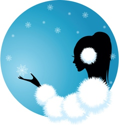 Snow lady vector