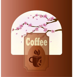 Banner with coffee vector