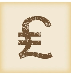 Grungy pound sterling icon vector