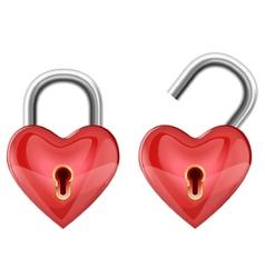 Heart padlock vector