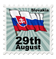 Post stamp of national day of slovakia vector