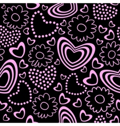 Valentines day seamless background vector