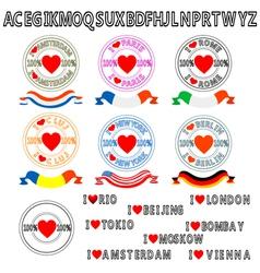 Traveler stamps over white background original fon vector