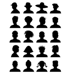 20 anonymous mugshots vector