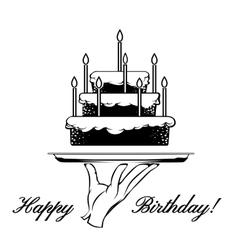 Happy birthday card element vector