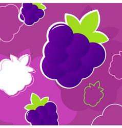 Summer blackberry pattern vector