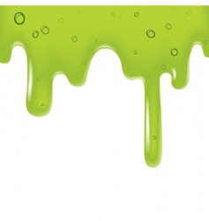 Green viscous liquid vector
