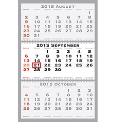 2015 september with red dating mark vector