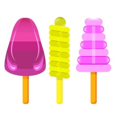 Ice cream on a stick vector