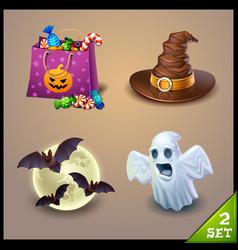 Halloween icons-set 2 vector