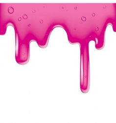 Pink viscous liquid vector
