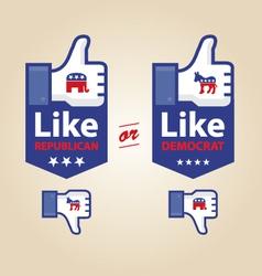 Like republican or democrat presidential election vector