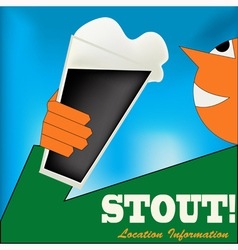 Irish stout drinker vector