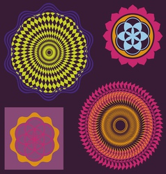 Spring floral meditation elements collection vector