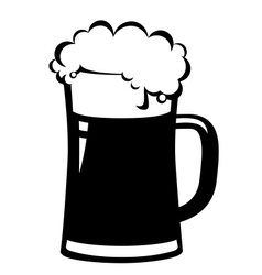 Black beer mug vector