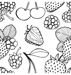 Seamless pattern of berries vector