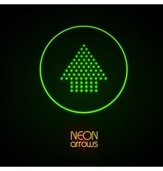 Neon arrows vector