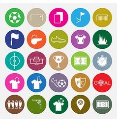Soccer icons set circle vector