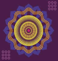 Spring floral meditation poster vector
