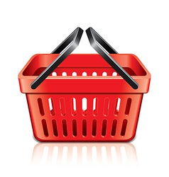 Object empty shopping basket vector