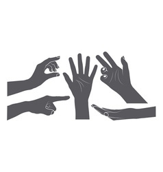 Set of hands vector