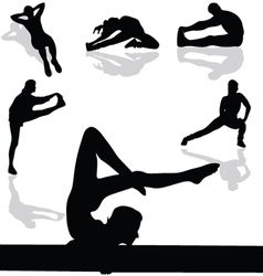 Sports and gymnastic exercises vector