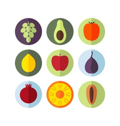 Fruits icon set vector