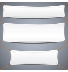 White textile banners advertising template vector