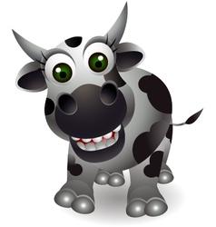 Funny cow cartoon vector