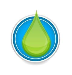 Green nature eco drop symbol vector