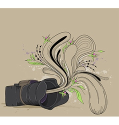 Abstract background with camera vector