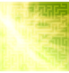 Yellow-green background with maze vector