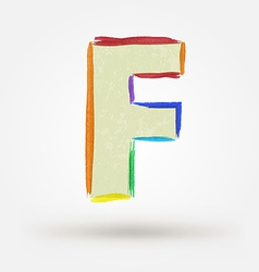 Alphabet letter f watercolor paint design element vector