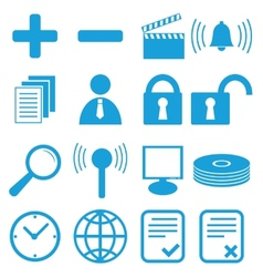 New flat icons set vector
