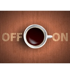 Cup of coffee concept vector