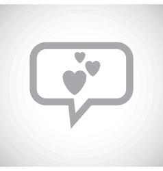 Love grey message icon vector